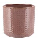 Keramik Kübel Foreo, D11cm, H9cm, für TO8, dunkelr